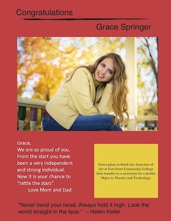 Grace Springer Senior Salute