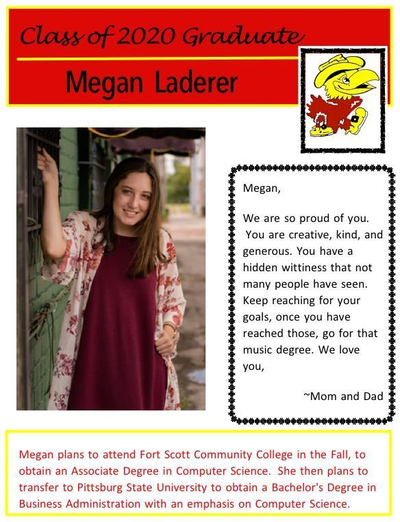 Megan Laderer Senior Salute