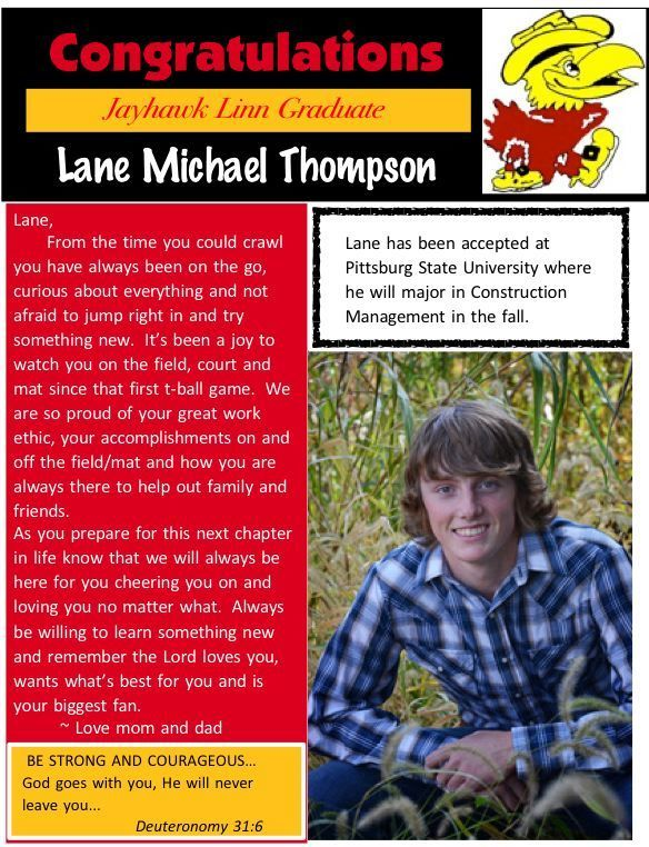 Lane Thompson- Senior Salute