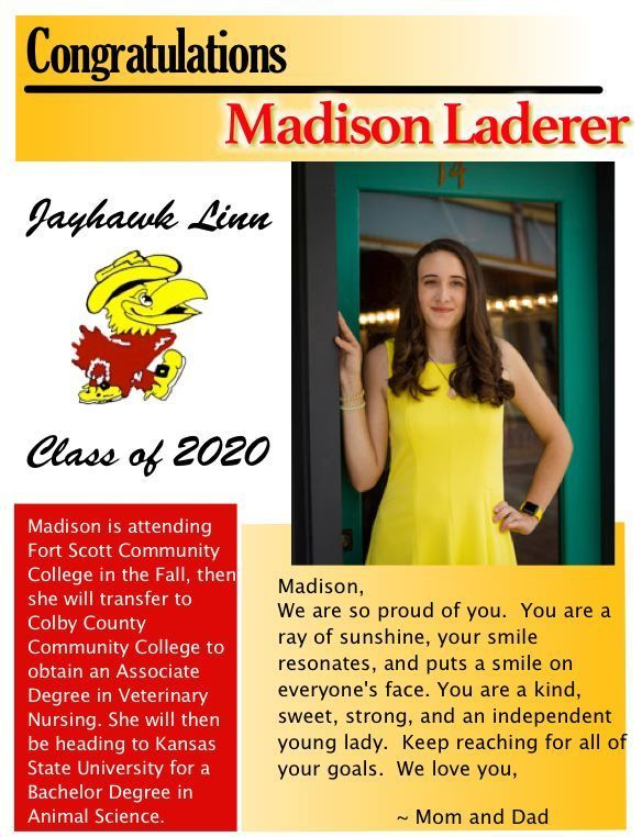 Madison Laderer- Senior Salute